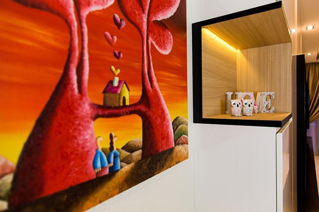 Modern, Condo, Living Room, Prive, Interior Designer, Thom Signature Design