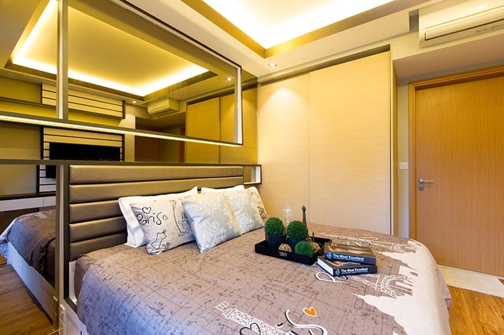 Modern, Condo, Bedroom, Prive, Interior Designer, Thom Signature Design, Headboard, Concealed Lighting, Cove Light