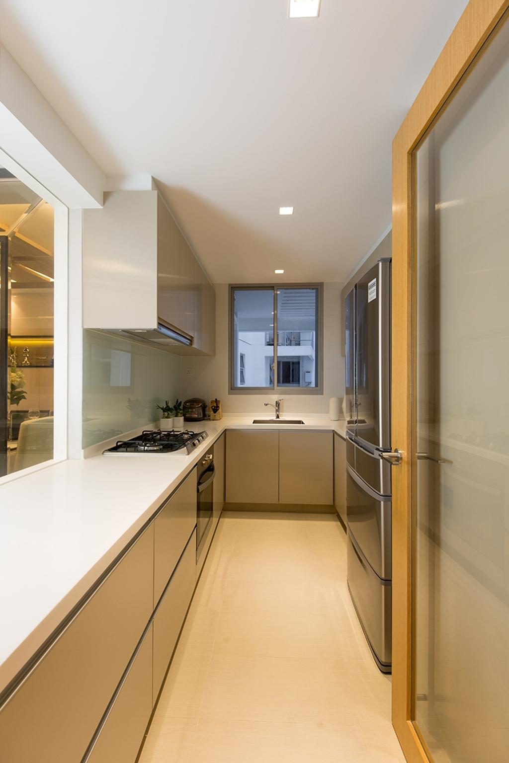 Modern, Condo, Kitchen, Prive, Interior Designer, Thom Signature Design, White Laminate