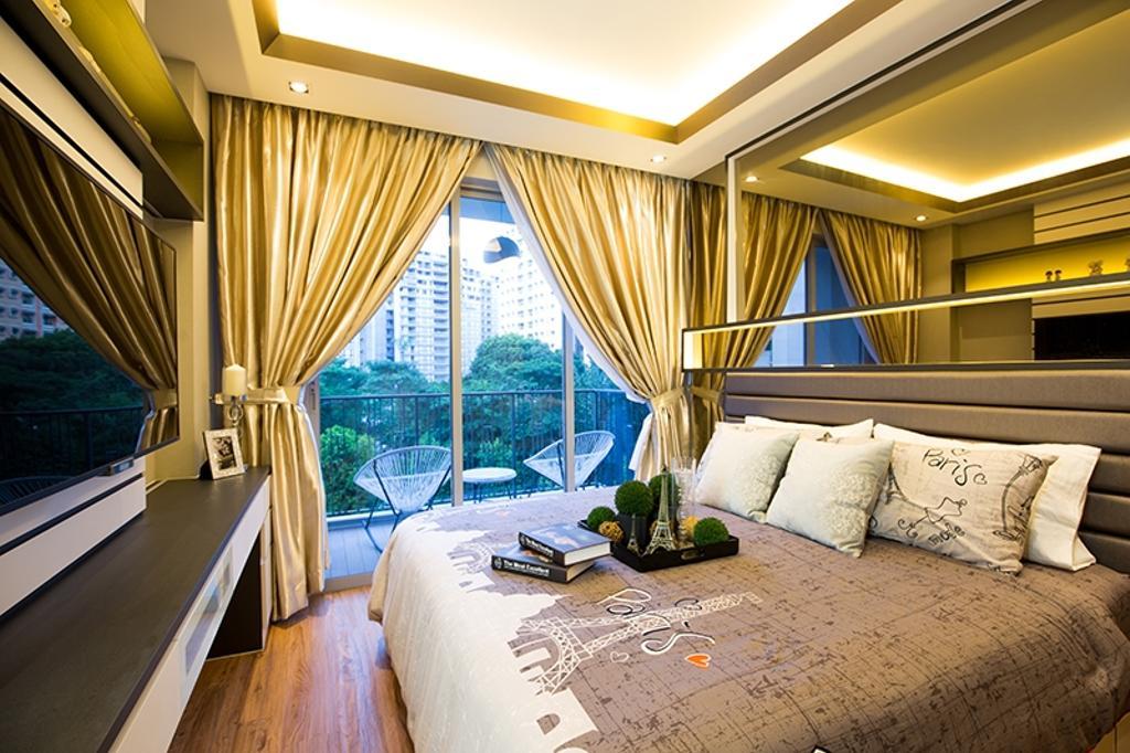 Modern, Condo, Bedroom, Prive, Interior Designer, Thom Signature Design, Concealed Lighting, Cove Light