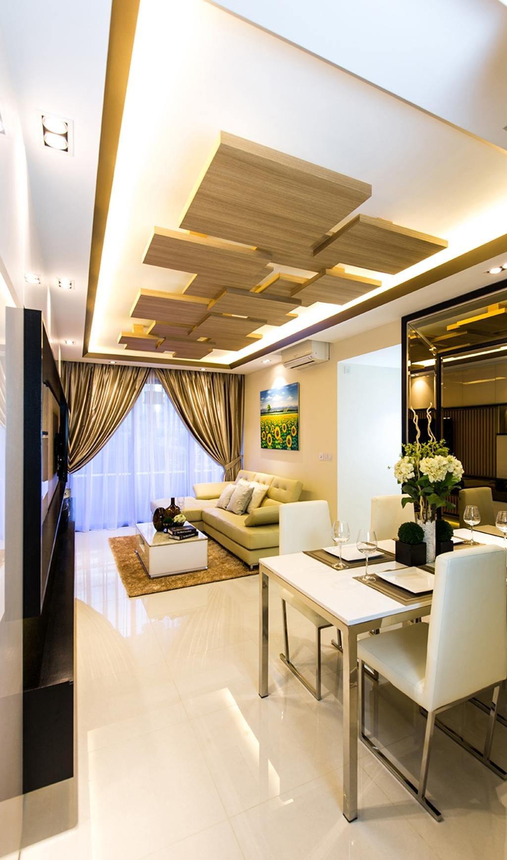 Modern, Condo, Dining Room, Prive, Interior Designer, Thom Signature Design, Wood Ceiling