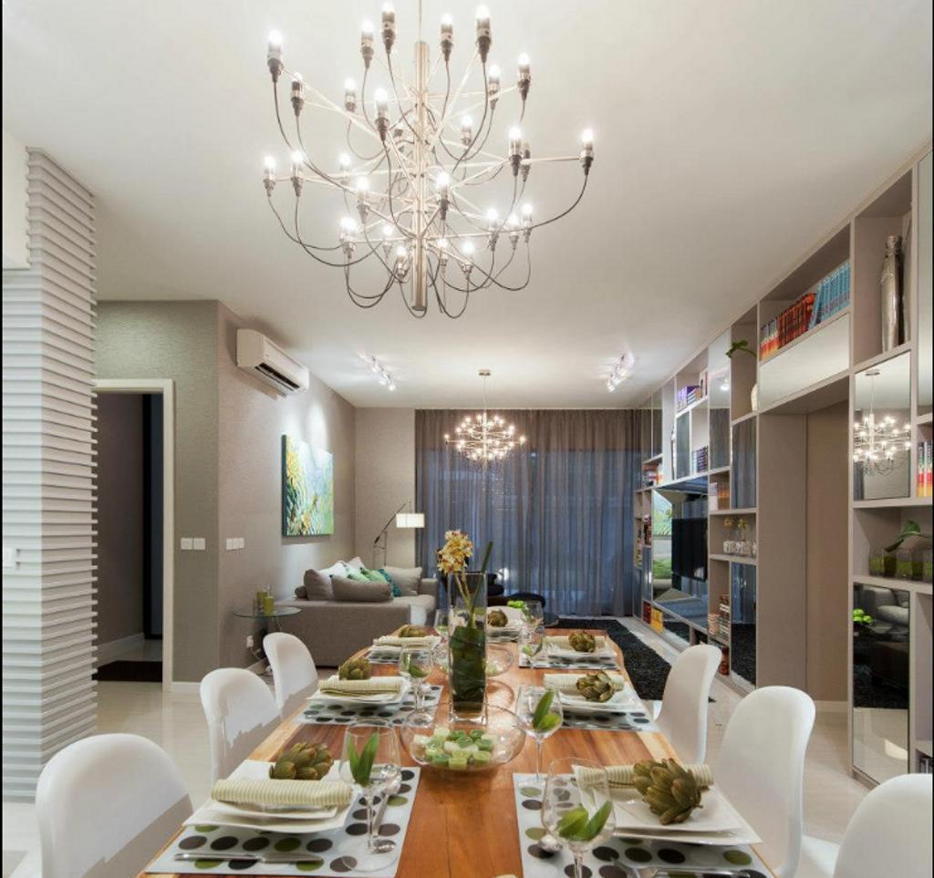 Modern, Landed, Dining Room, IJM Seri Riana Showroom, Interior Designer, EDI: Essential Design Integrated, Traditional