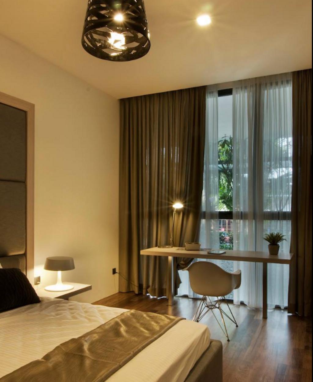 Modern, Landed, Bedroom, Pavilion Suites, Taiping, Interior Designer, EDI: Essential Design Integrated, Contemporary