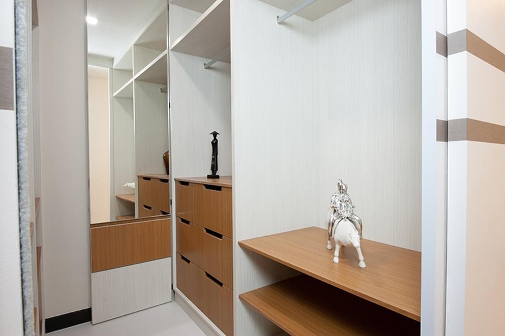 Scandinavian, HDB, Bedroom, Punggol Field (Block 261C), Interior Designer, Thom Signature Design, Wood Laminate, Wardrobe