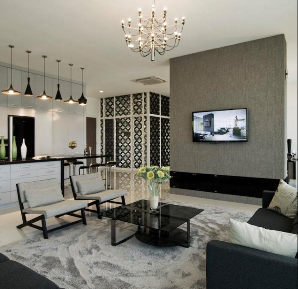 Modern, Landed, Living Room, Pavilion Suites, Taiping, Interior Designer, EDI: Essential Design Integrated, Contemporary