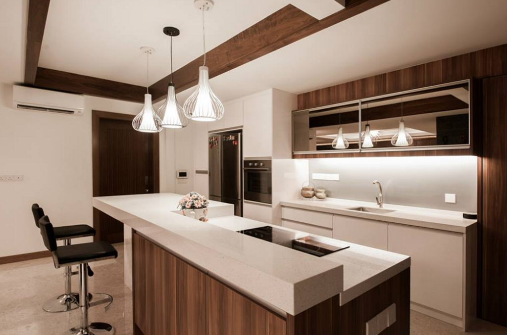 Modern, Landed, Kitchen, SS24 Semi D Renovation, Interior Designer, EDI: Essential Design Integrated, Contemporary