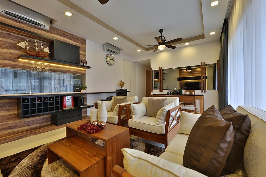 Scandinavian, Condo, Living Room, NV Residence (Block 10), Interior Designer, Thom Signature Design, Fan Light, Wood Laminate, Coffee Table