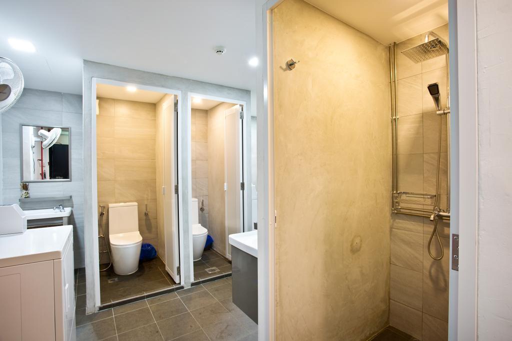 7 Wonders Hostel, Commercial, Interior Designer, The Local INN.terior 新家室, Eclectic, Toilet, Indoors, Interior Design, Room
