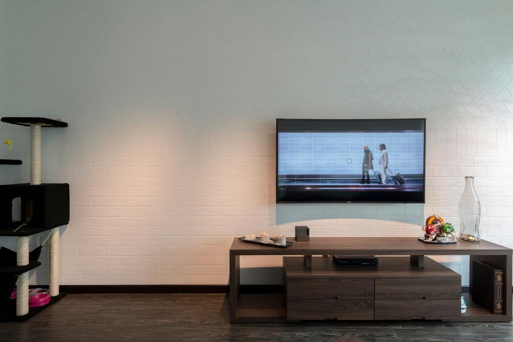 Minimalistic, HDB, Living Room, Upper Serangoon Crescent, Interior Designer, The Local INN.terior 新家室, Appliance, Electrical Device, Oven