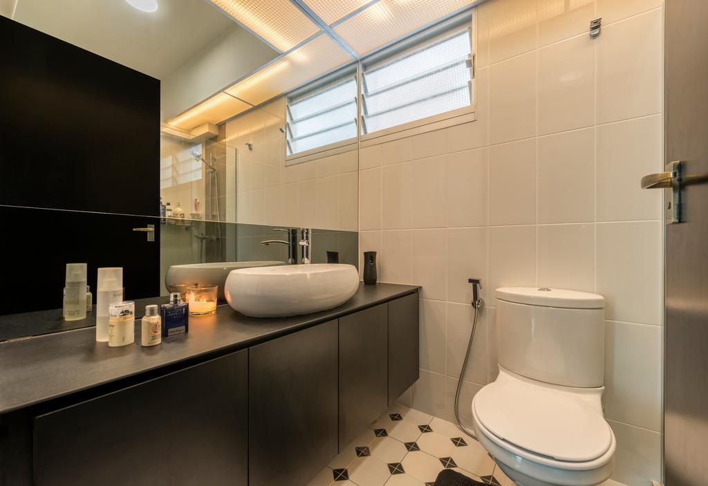 Minimalistic, HDB, Upper Serangoon Crescent, Interior Designer, The Local INN.terior 新家室, Bathroom, Indoors, Interior Design, Room, Lighting