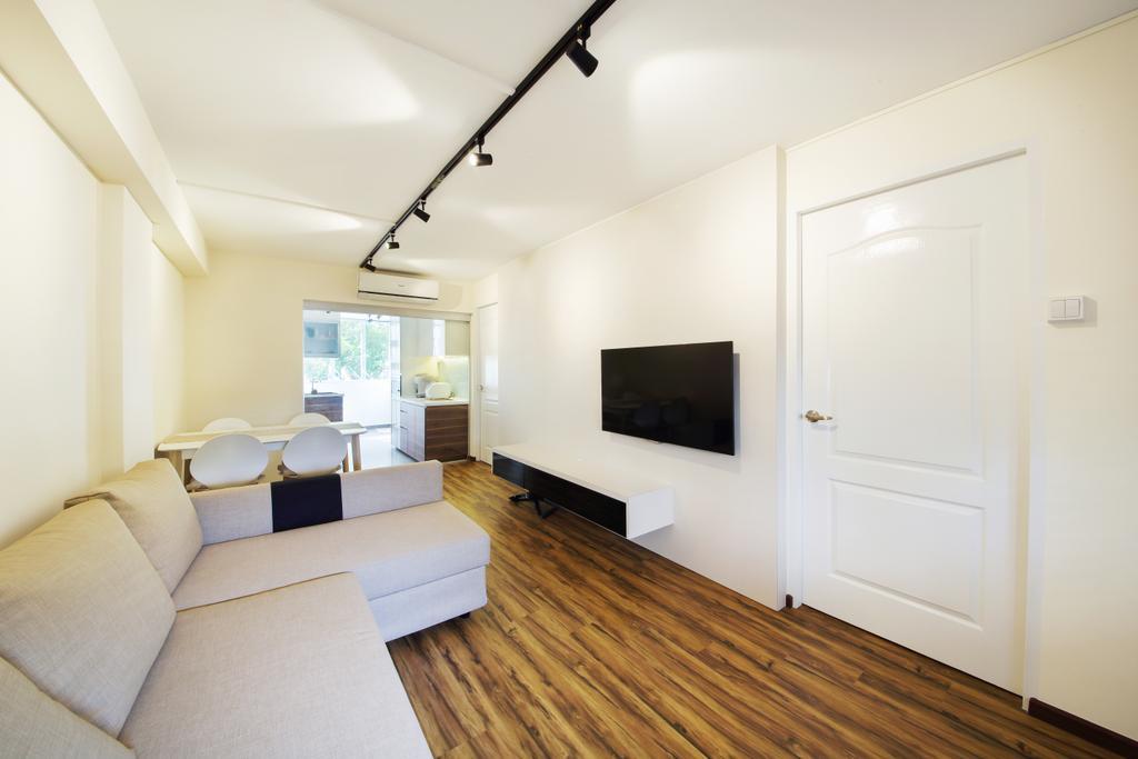 Modern, HDB, Living Room, Haig Road, Interior Designer, Dap Atelier, Building, Housing, Indoors, Loft