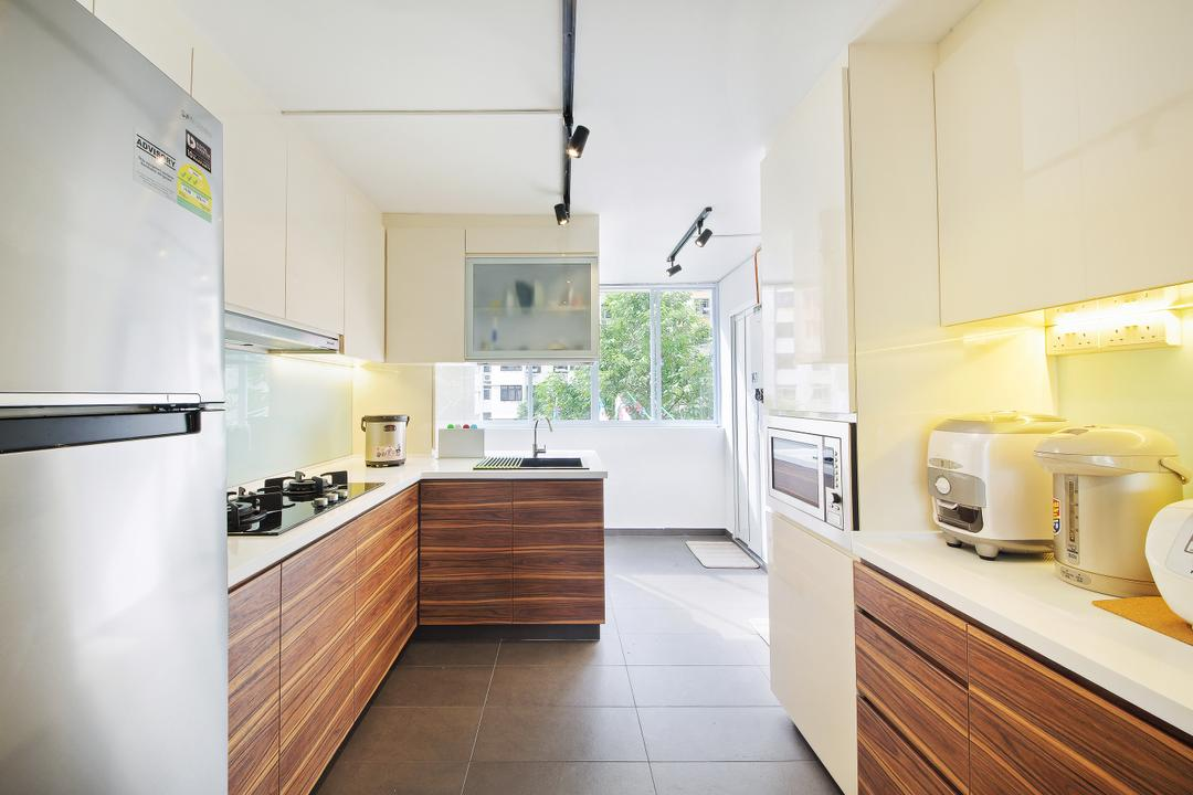 Haig Road, Dap Atelier, Modern, Kitchen, HDB, Indoors, Interior Design, Appliance, Electrical Device, Toaster