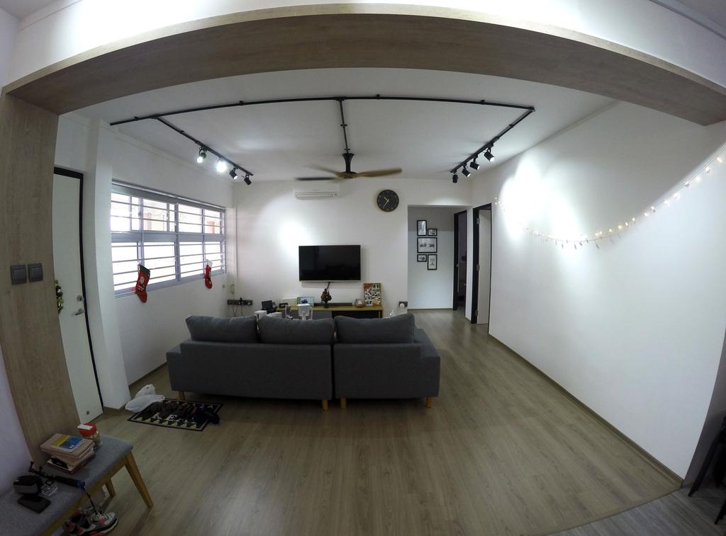 Modern, HDB, Living Room, Kim Tian, Interior Designer, Colourbox Interior, Couch, Furniture, Building, Housing, Indoors, Loft