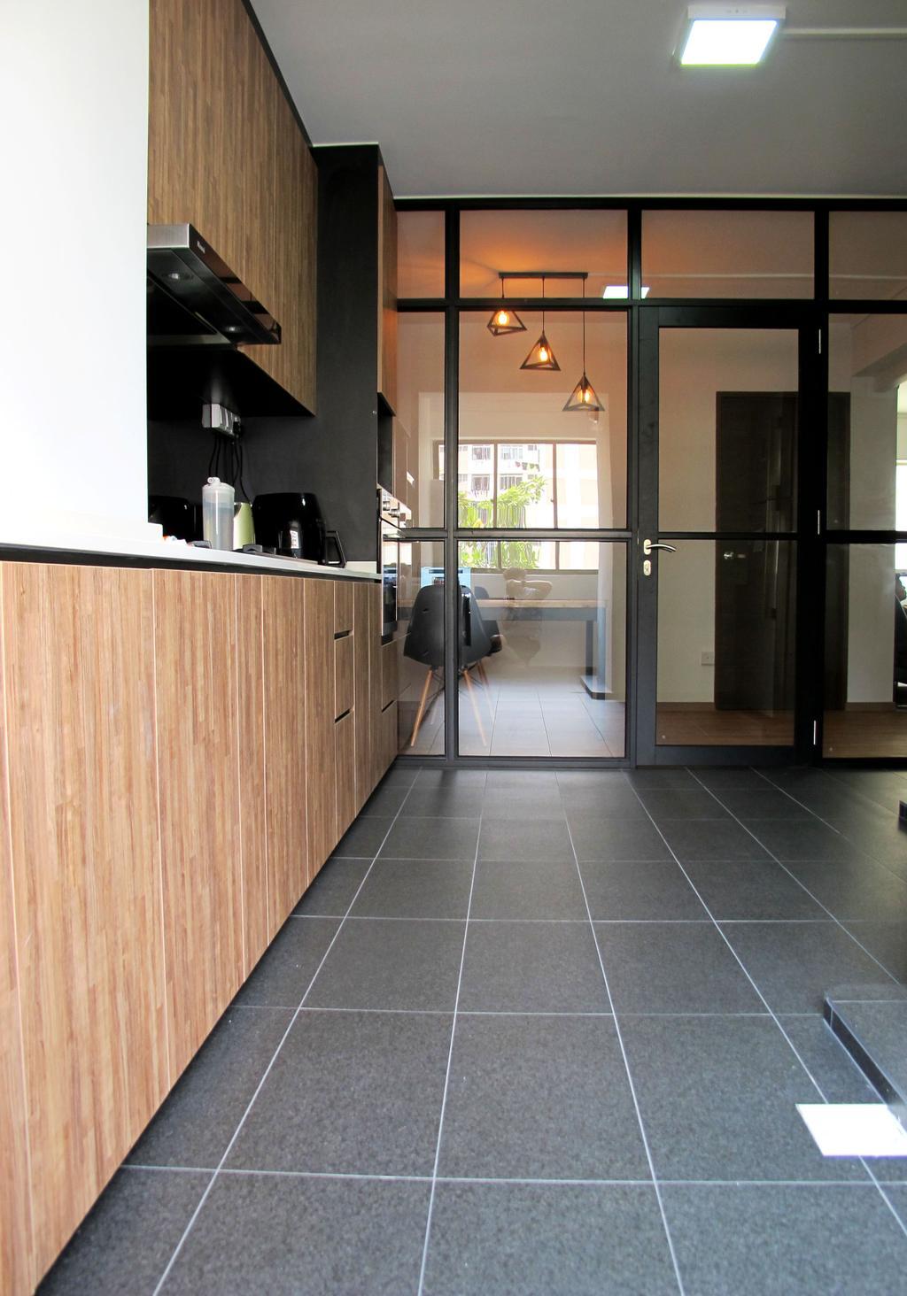 Modern, HDB, Kitchen, Pasir Ris Drive 6, Interior Designer, Colourbox Interior, Flooring