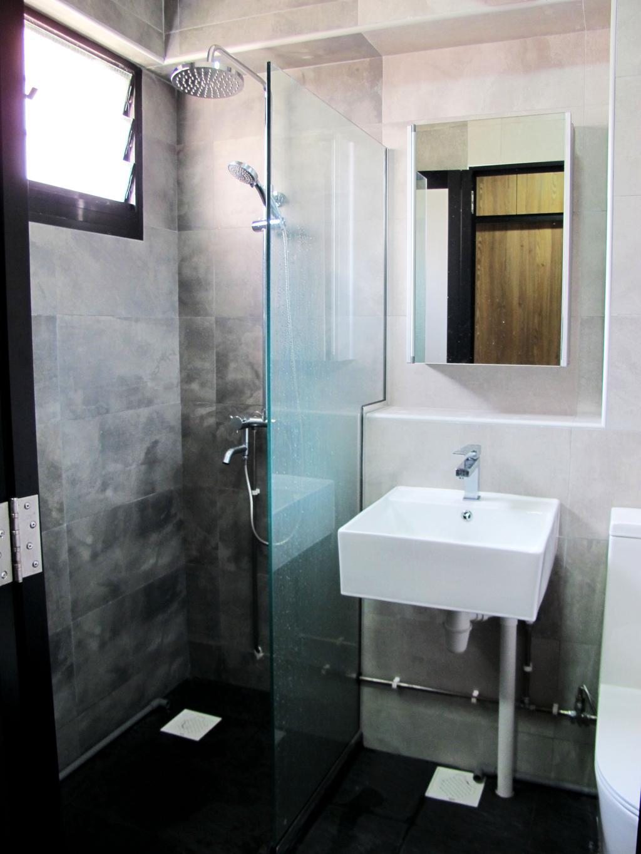 Modern, HDB, Bathroom, Pasir Ris Drive 6, Interior Designer, Colourbox Interior, Sink, Indoors, Interior Design, Room