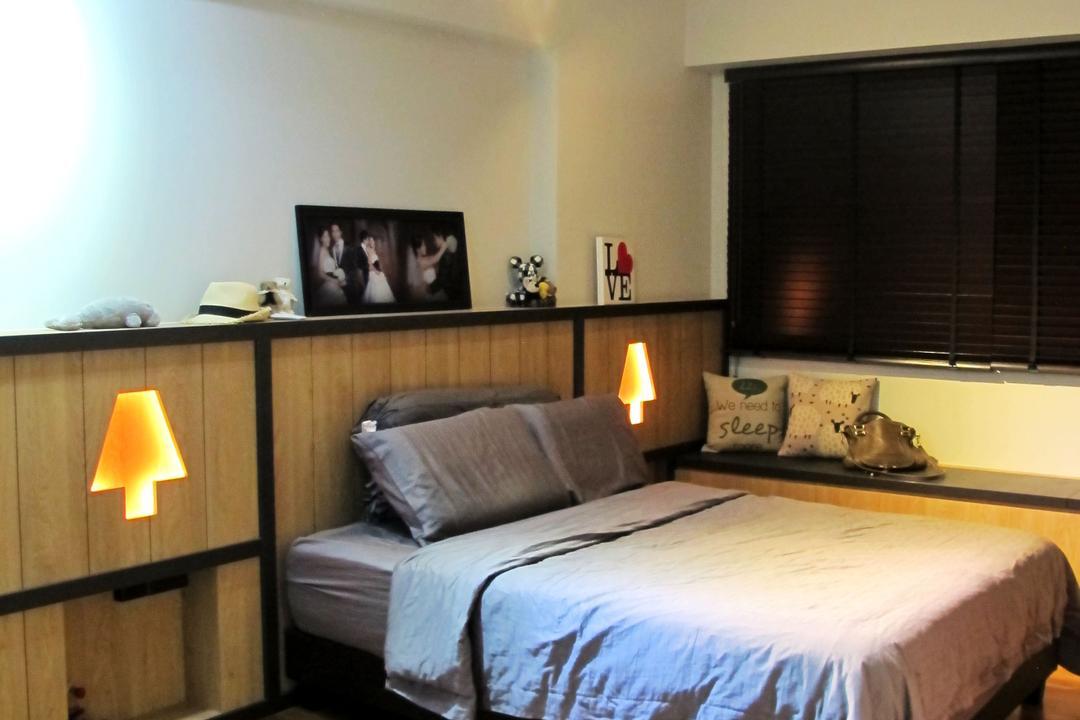 Punggol Waterway Terrace, Colourbox Interior, Scandinavian, Bedroom, HDB, Forge, Bed, Furniture, Indoors, Room, Interior Design