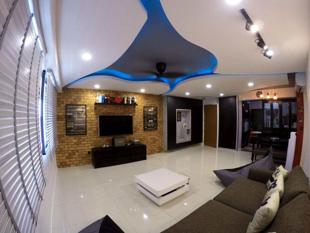 Modern, HDB, Living Room, Punggol Waterway Terrace, Interior Designer, Colourbox Interior, Couch, Furniture, Spiral