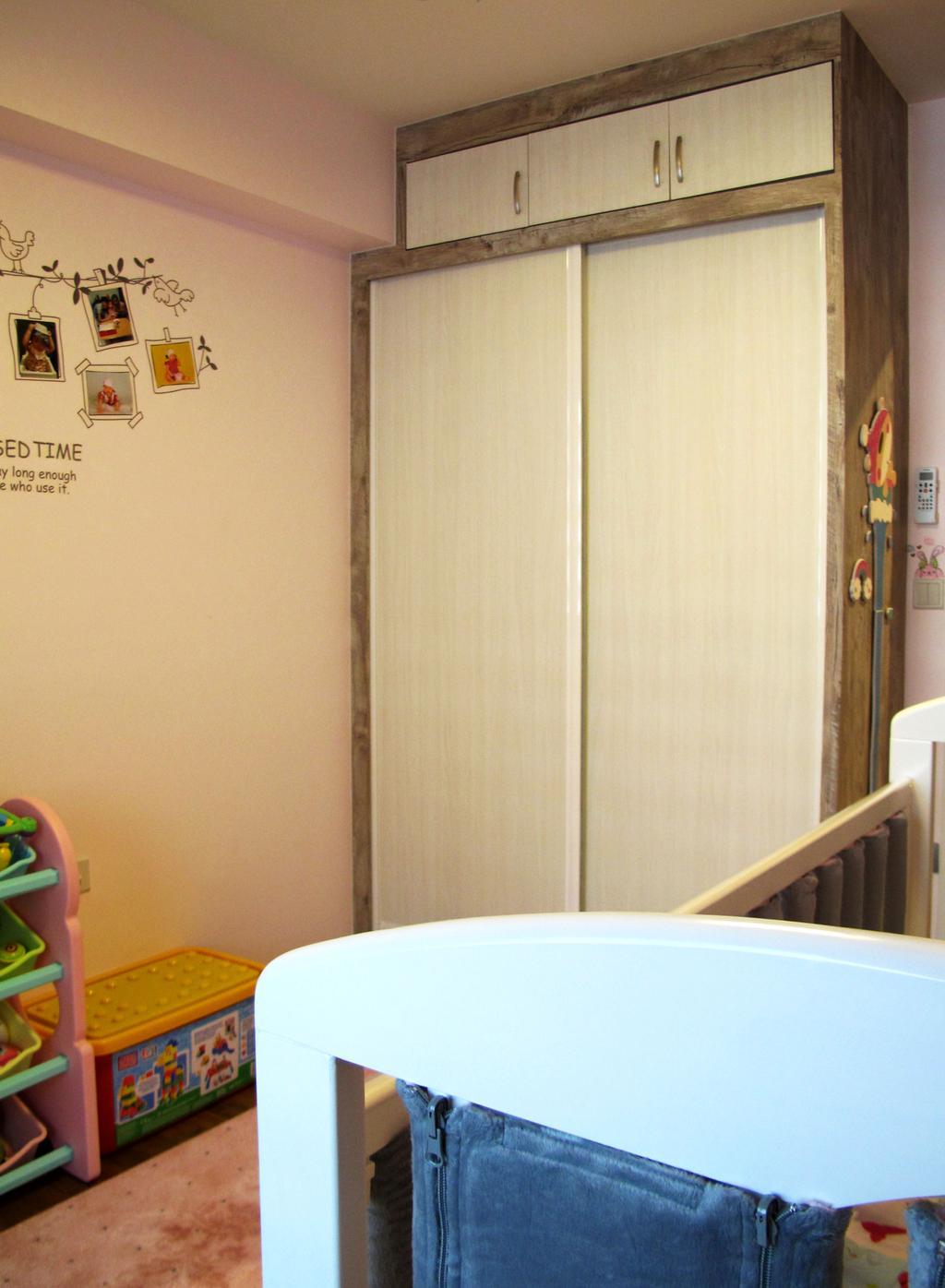 Modern, HDB, Bedroom, Punggol Waterway Terrace, Interior Designer, Colourbox Interior, Banister, Handrail