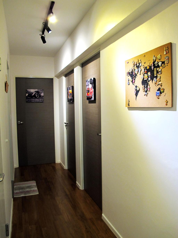 Modern, HDB, Living Room, Punggol Waterway Terrace, Interior Designer, Colourbox Interior, Corridor