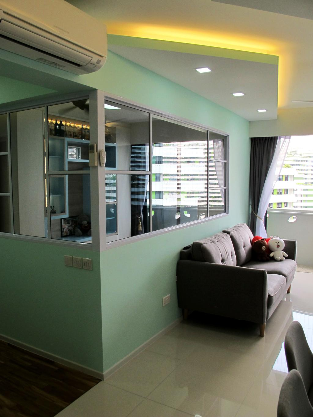 Modern, HDB, Living Room, Punggol Waterway Terrace, Interior Designer, Colourbox Interior, Couch, Furniture