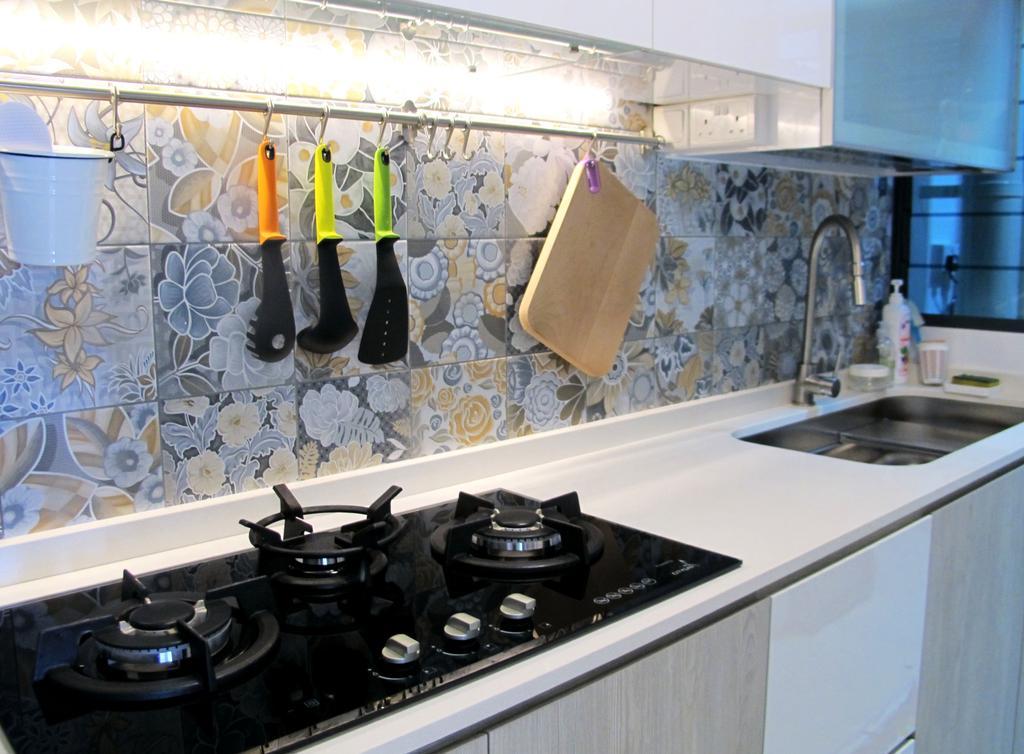 Modern, HDB, Kitchen, Punggol Waterway Terrace, Interior Designer, Colourbox Interior, Human, People, Person, Bottle