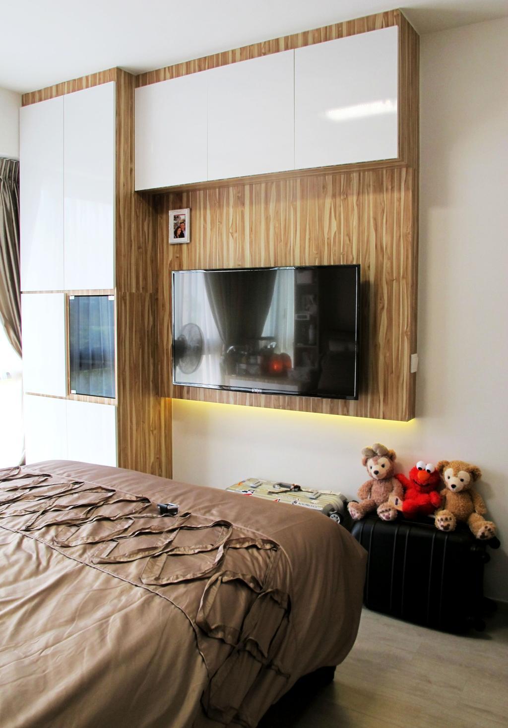 Modern, Condo, Bedroom, River Isles, Interior Designer, Colourbox Interior, Teddy Bear, Toy, Human, People, Person