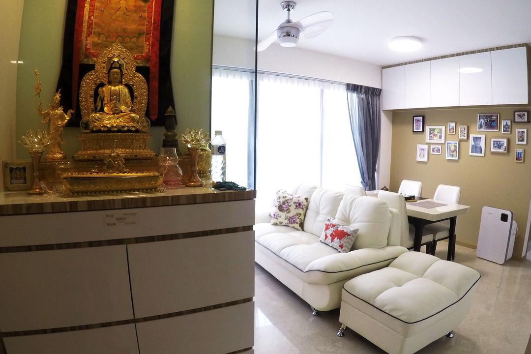 River Isles, Colourbox Interior, Modern, Living Room, Condo, Toilet, Art, Buddha, Worship, Couch, Furniture