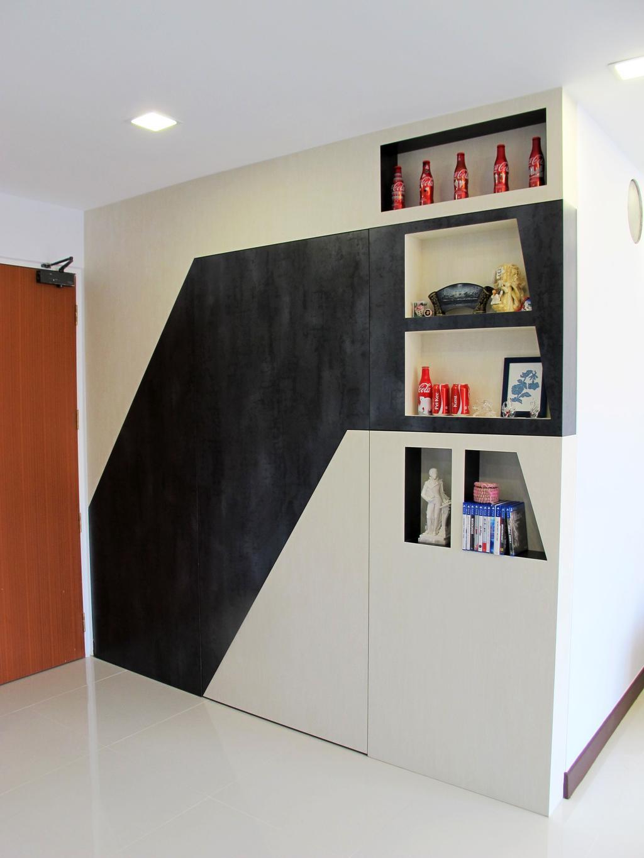 Modern, HDB, Rivervale Crescent, Interior Designer, Colourbox Interior