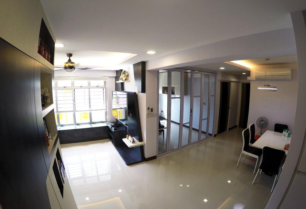 Modern, HDB, Rivervale Crescent, Interior Designer, Colourbox Interior, Sink, Chair, Furniture