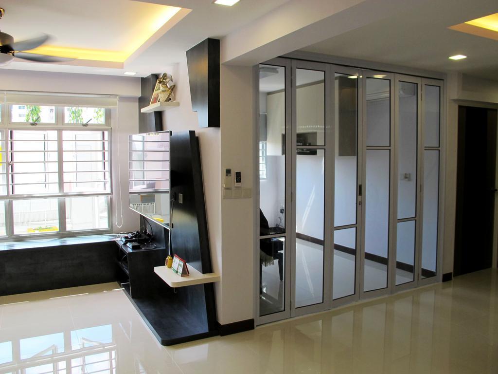 Modern, HDB, Rivervale Crescent, Interior Designer, Colourbox Interior, Door, Folding Door