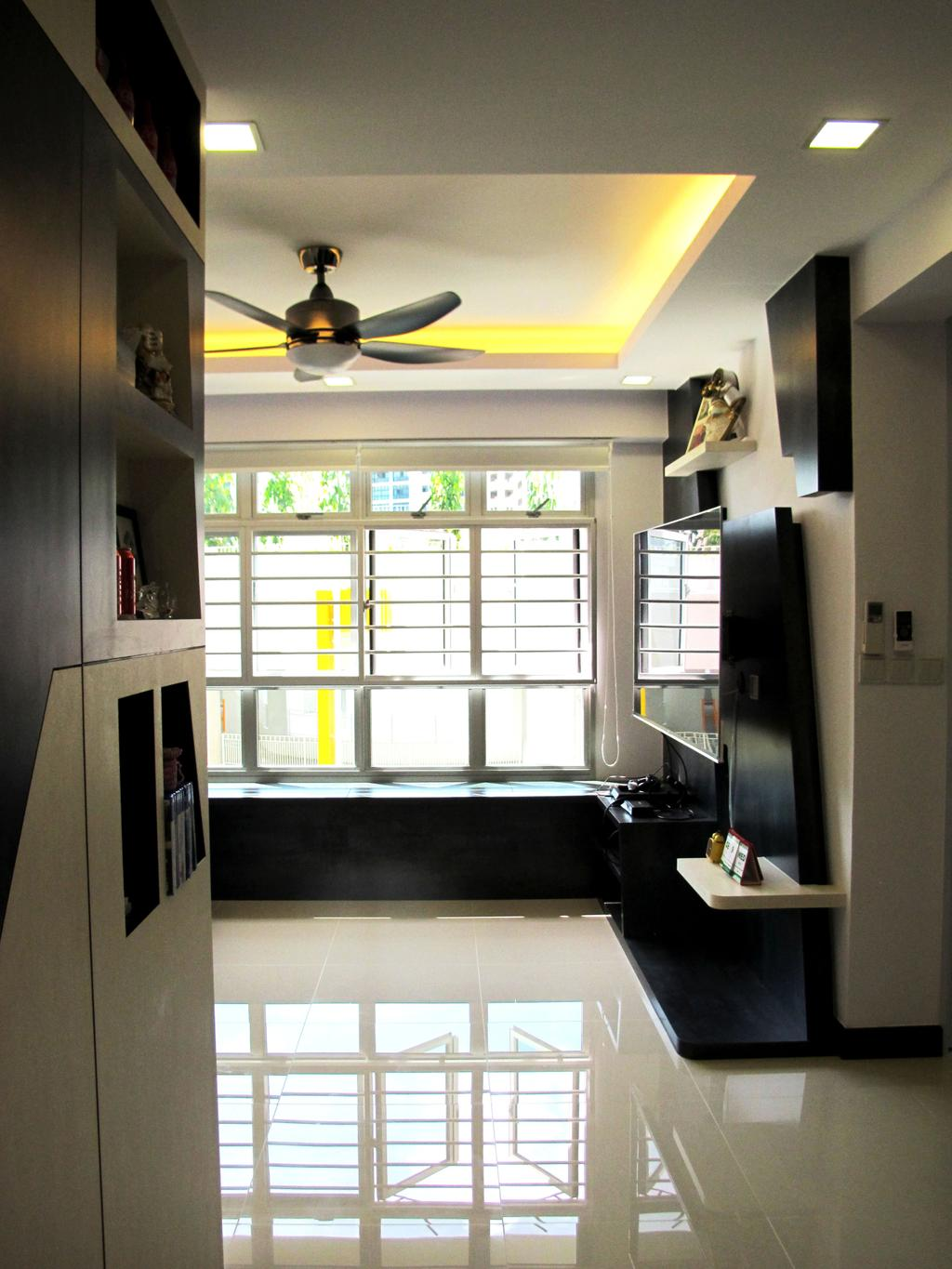 Modern, HDB, Living Room, Rivervale Crescent, Interior Designer, Colourbox Interior, Building, Housing, Indoors, Loft