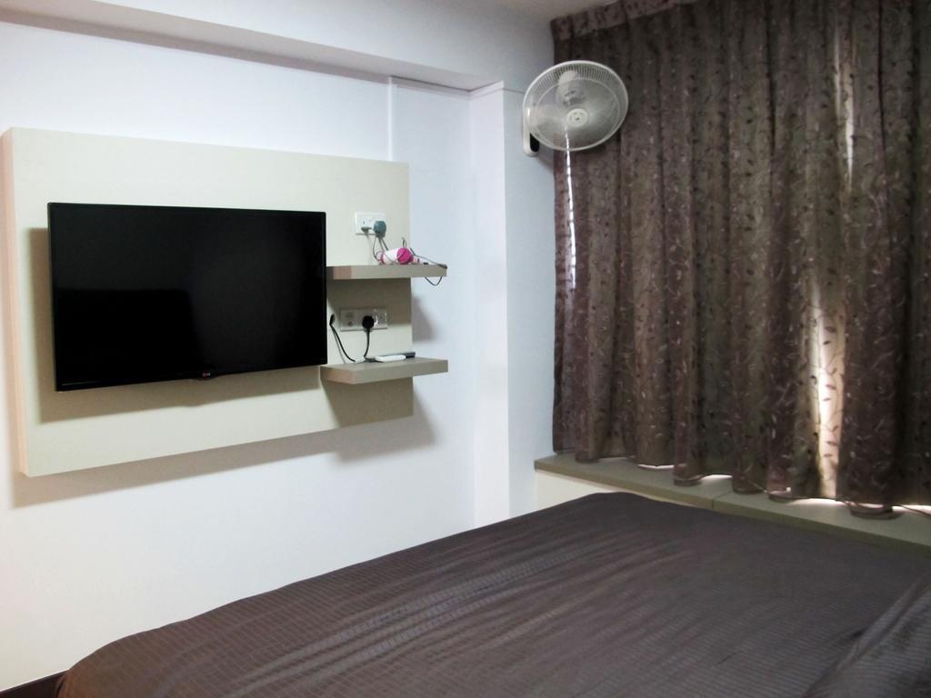 Modern, HDB, Bedroom, Rivervale Crescent, Interior Designer, Colourbox Interior, Shelf, Desk, Furniture, Table
