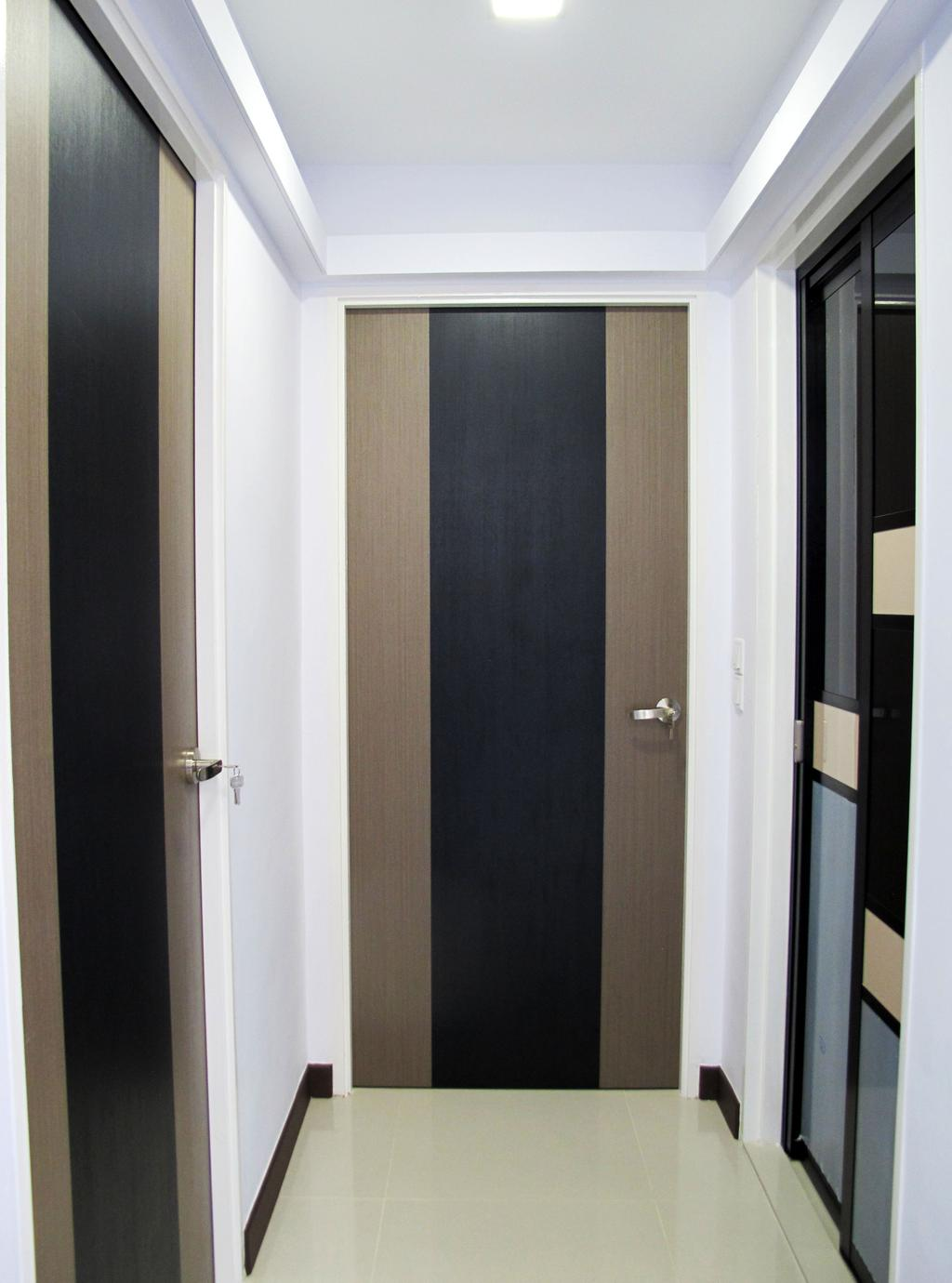 Modern, HDB, Living Room, Rivervale Crescent, Interior Designer, Colourbox Interior, Door, Folding Door