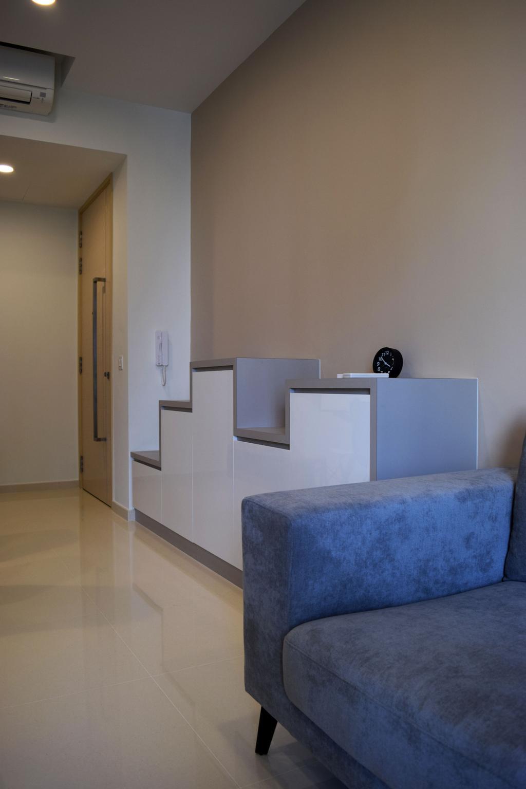 Modern, HDB, Living Room, The Luxurie, Interior Designer, Colourbox Interior