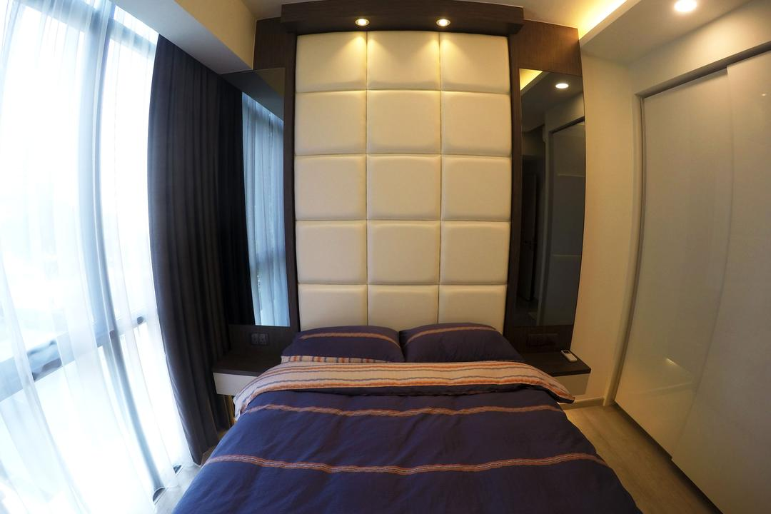 The Luxurie, Colourbox Interior, Modern, Bedroom, HDB, Padded Wall, Bed Padding, Bed, Furniture, Indoors, Interior Design, Room