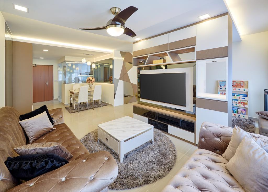 Contemporary, HDB, Living Room, Fajar Hills, Interior Designer, Absolook Interior Design, Indoors, Room, Dining Room, Interior Design, Electronics, Entertainment Center