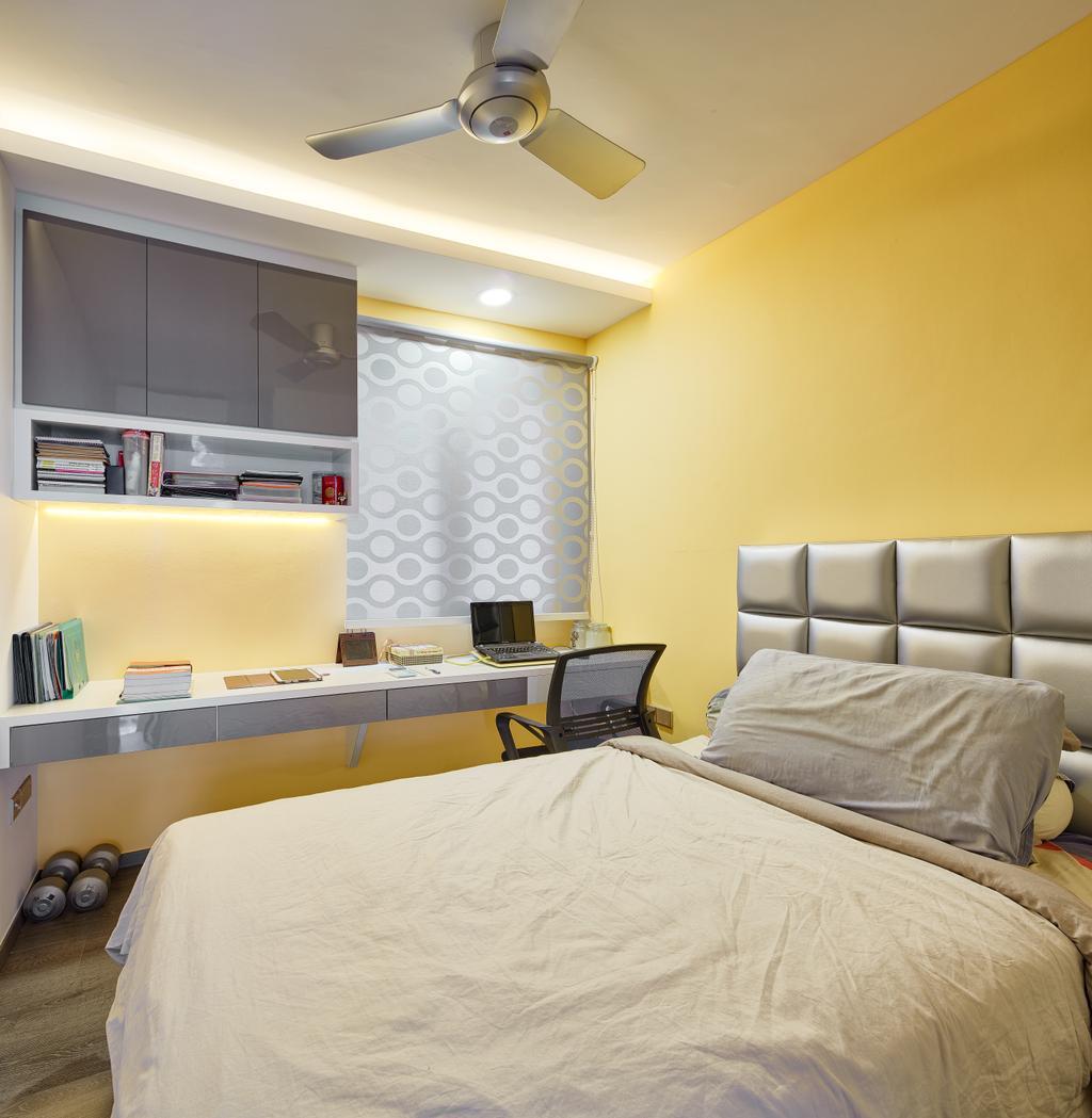 Modern, Condo, Waterbay, Interior Designer, Absolook Interior Design, Shelf, Bed, Furniture