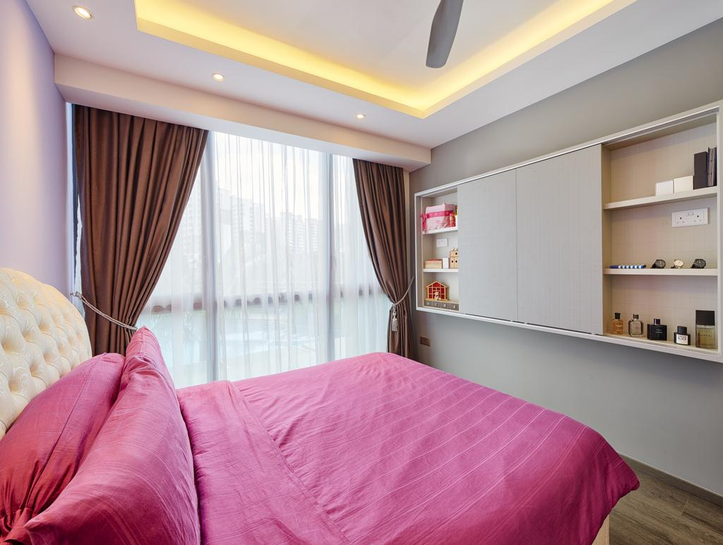 Modern, Condo, Bedroom, Waterbay, Interior Designer, Absolook Interior Design, Indoors, Interior Design, Room, Bed, Furniture