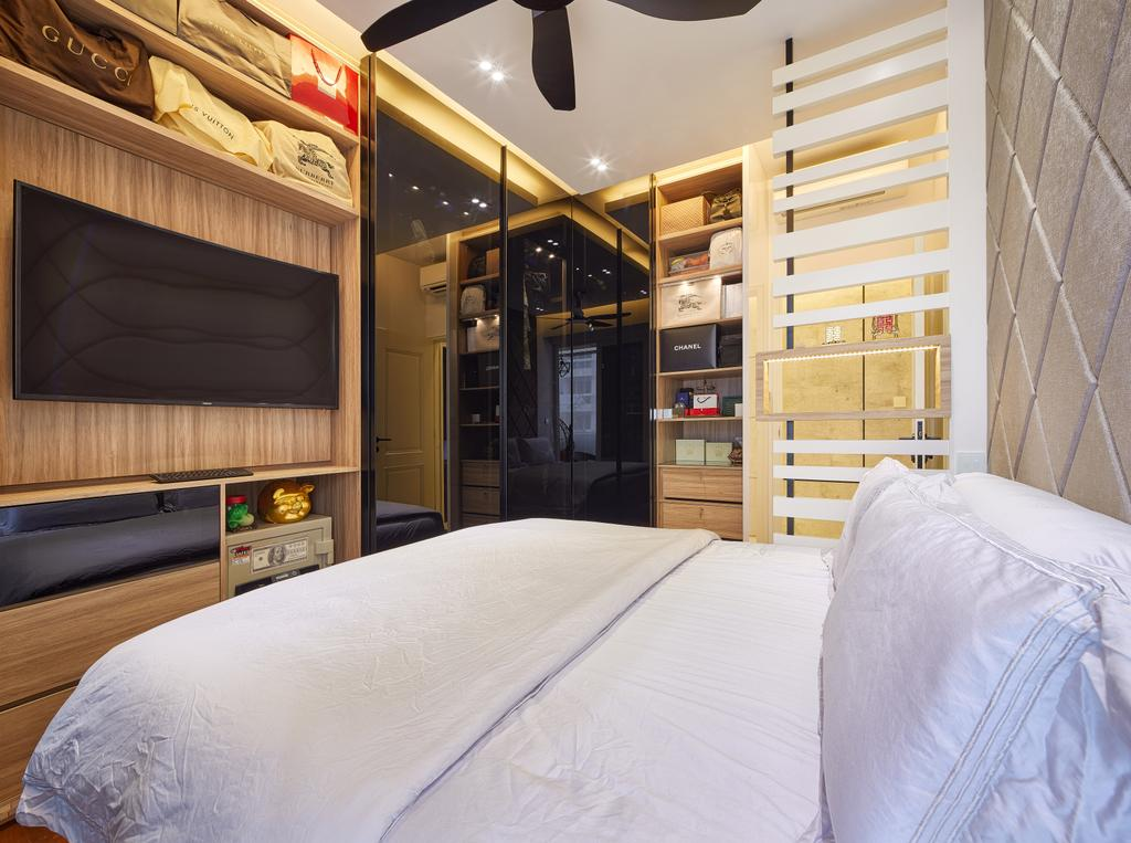 Modern, Condo, Bedroom, The Nautical, Interior Designer, Absolook Interior Design, Minimalistic, Bed, Furniture