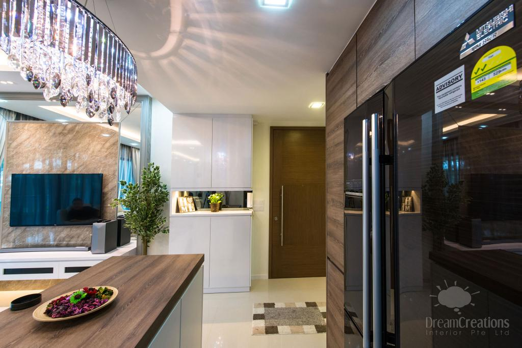 Contemporary, Condo, Kitchen, The Topiary, Interior Designer, DreamCreations Interior, Flora, Jar, Plant, Potted Plant, Pottery, Vase