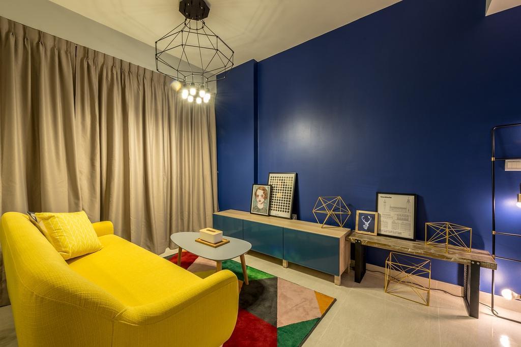 Eclectic, Condo, Living Room, La Fiesta, Interior Designer, Mr Shopper Studio, Tv Console, Wooden Bench, Wired Decor, Indoors, Interior Design, Couch, Furniture