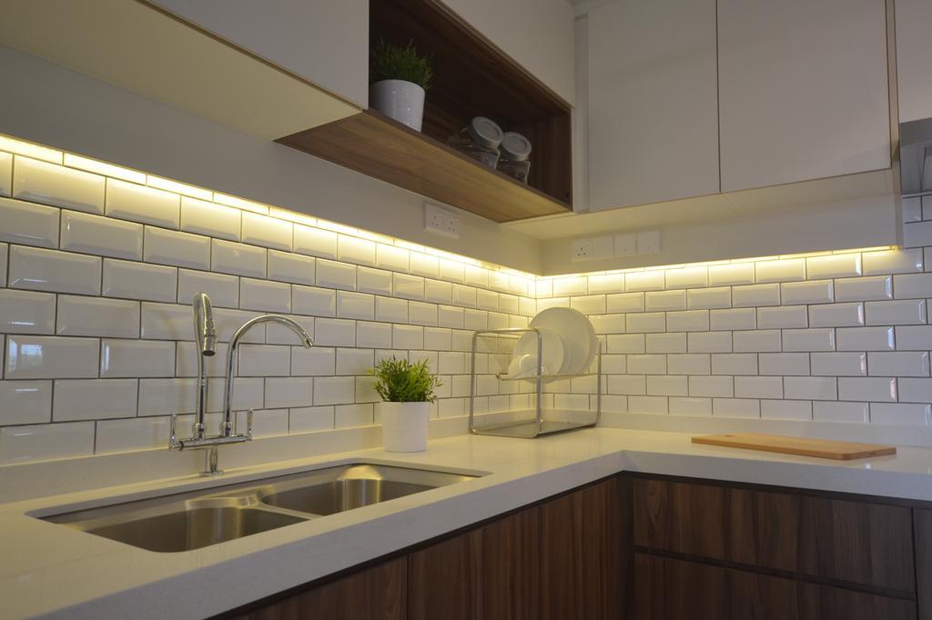 Modern, Condo, Kitchen, Kitchen Renovation @ Taman Yarl, OUG, Interior Designer, Anwill Design Sdn Bhd, Indoors, Interior Design