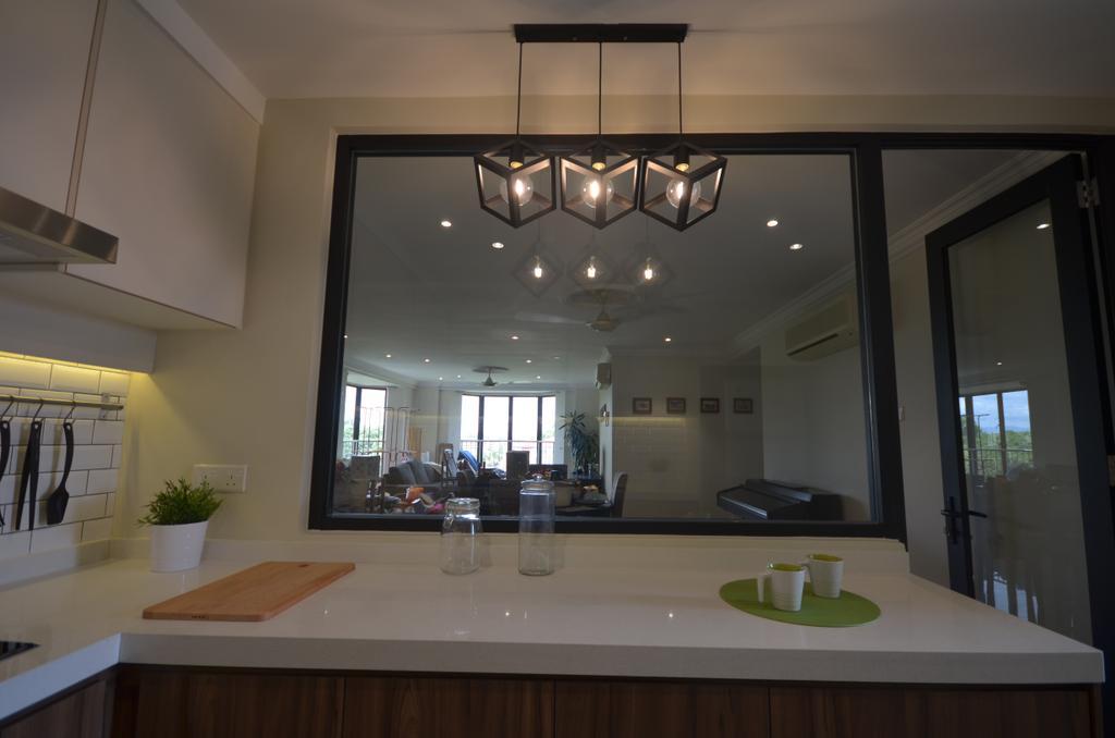 Modern, Condo, Kitchen, Kitchen Renovation @ Taman Yarl, OUG, Interior Designer, Anwill Design Sdn Bhd, Bathroom, Indoors, Interior Design, Room, Dining Room, Sink