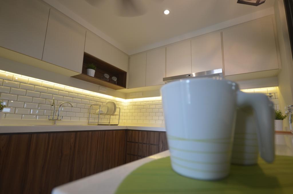 Modern, Condo, Kitchen, Kitchen Renovation @ Taman Yarl, OUG, Interior Designer, Anwill Design Sdn Bhd, Cup
