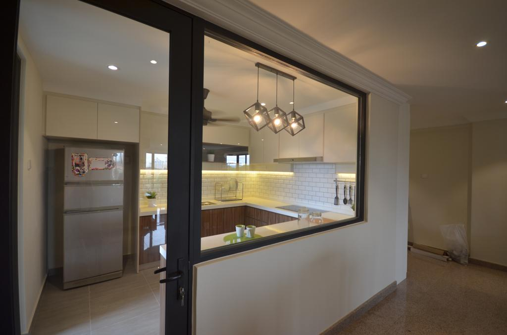 Modern, Condo, Kitchen, Kitchen Renovation @ Taman Yarl, OUG, Interior Designer, Anwill Design Sdn Bhd, Light Fixture, Bathroom, Indoors, Interior Design, Room, Lighting