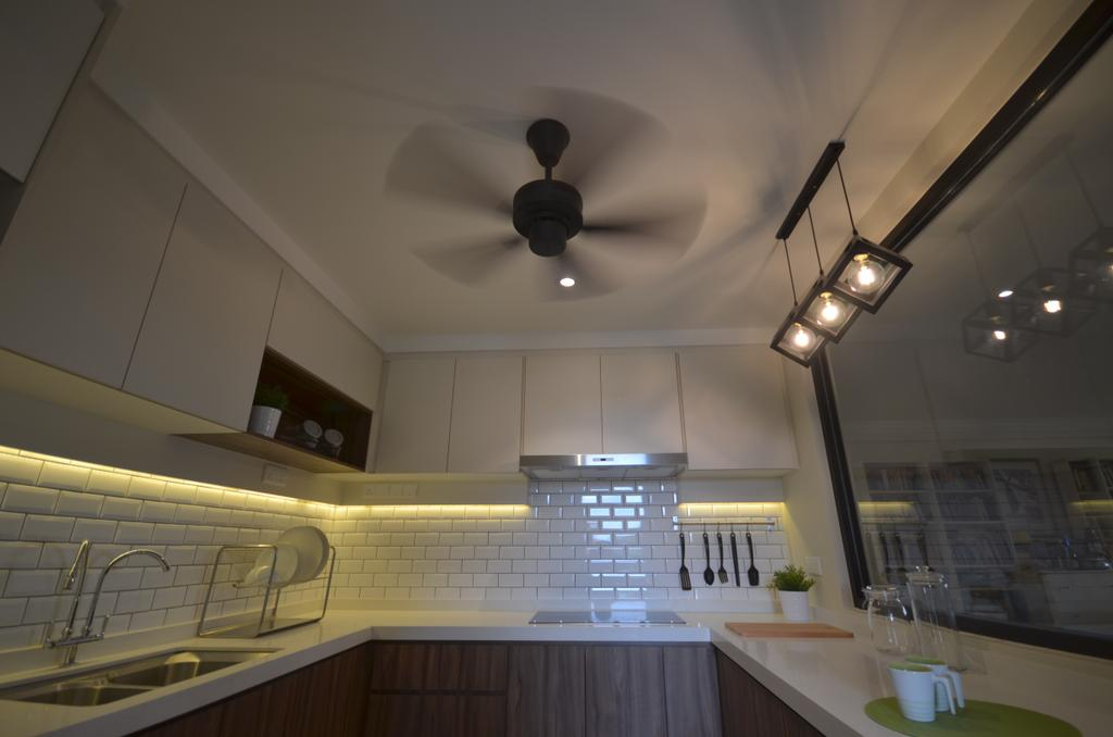 Modern, Condo, Kitchen, Kitchen Renovation @ Taman Yarl, OUG, Interior Designer, Anwill Design Sdn Bhd, Light Fixture, Lighting