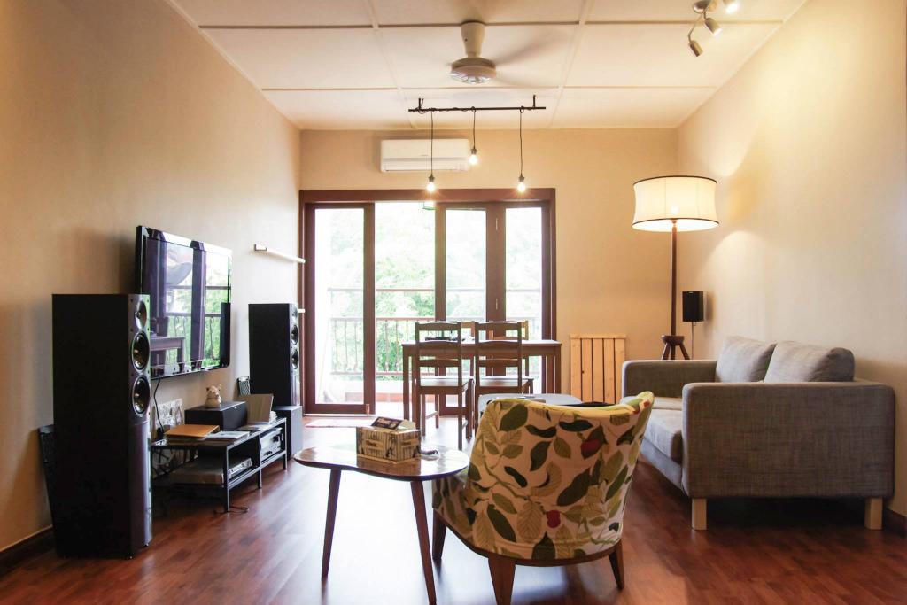Modern, Condo, Living Room, Kuchai Brem Park, Kuchai Lama, Interior Designer, Anwill Design Sdn Bhd, Couch, Furniture, Chair, Dining Room, Indoors, Interior Design, Room, Dining Table, Table