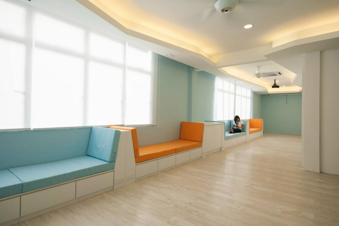 Super Education Group Hostel, Anwill Design Sdn Bhd, Modern, Commercial, Flooring, Indoors, Interior Design, Furniture, Studio Couch