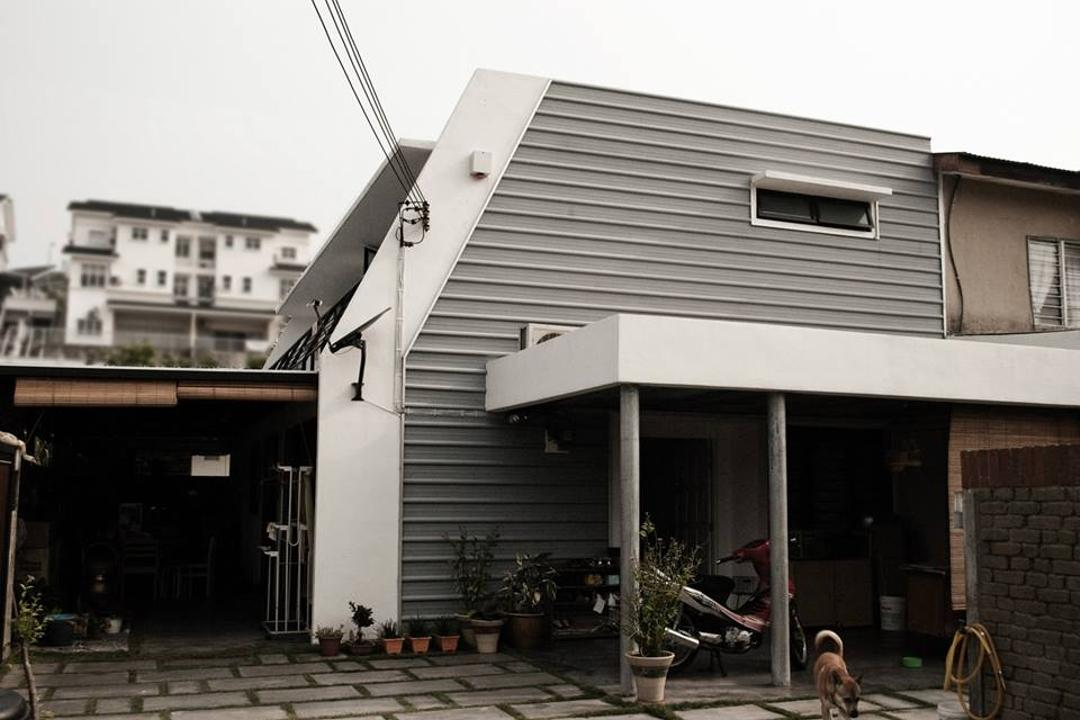 Double Storey Extension, Anwill Design Sdn Bhd, Modern, Landed, Flora, Jar, Plant, Potted Plant, Pottery, Vase, Building, Neighborhood, Urban