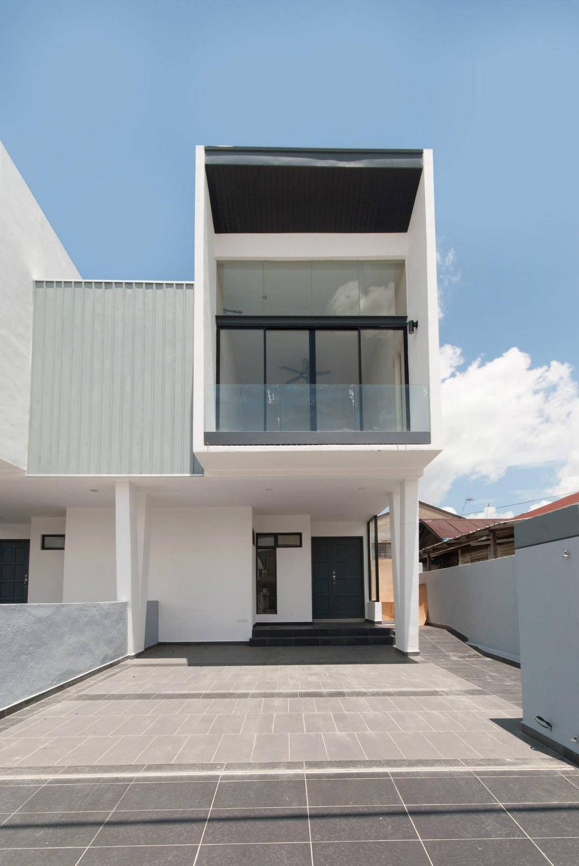 Modern, Landed, Bungalow Construction @ Pekan Serdang, Interior Designer, Anwill Design Sdn Bhd, Door, Building, Housing, House, Villa
